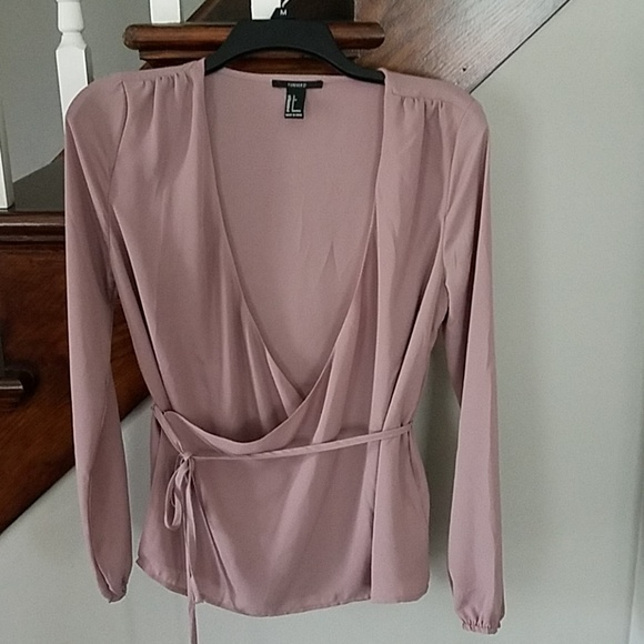 Forever 21 Tops - Forever21 SMALL surplus style mauve blouse